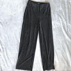 Forever 21 Sparkle Striped Black Pants High Waist